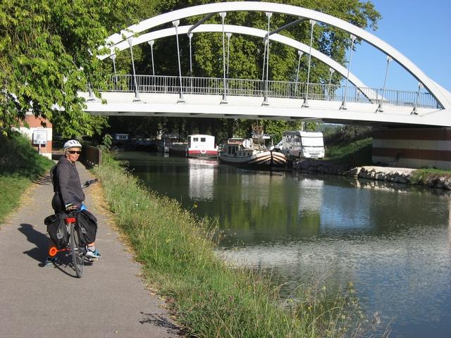 Moissac Feugarolles en vélo par Auvillar