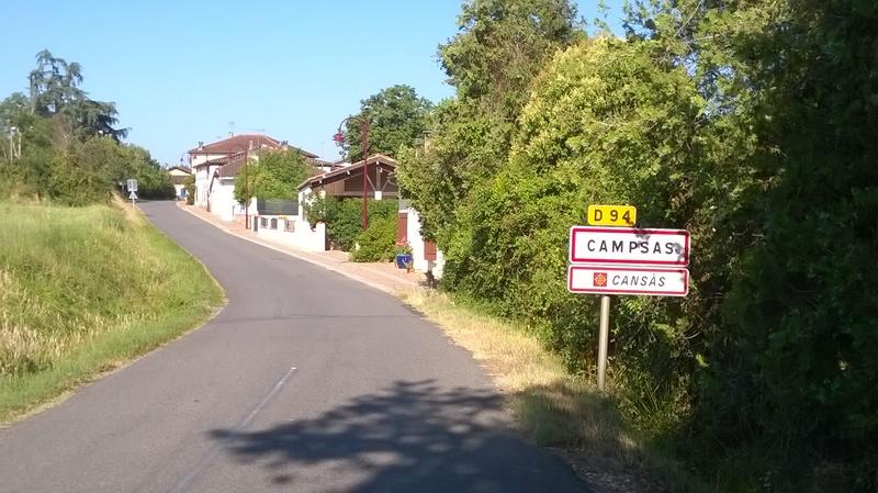 Toulouse Montauban en vélo - Campsas